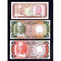 Сьерра - Леоне набор из 5-ти банкнот 1980 г. (SIERRA LEONE nabor iz 5-ti bon 1980 g.) Unc