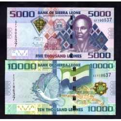 Сьерра - Леоне набор из 4-х банкнот (SIERRA LEONE nabor iz 4-h bon) Unc