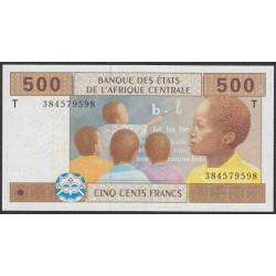Центральные Африканские Штаты, Конго 500 франков 2002 года (Central African States Congo 500 Francs 2002) P 106Tb: UNC