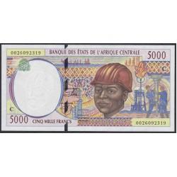 Центральные Африканские Штаты, Конго 5000 франков 2002 года (Central African States Congo 5000 Francs 2002) P 104Cg: UNC