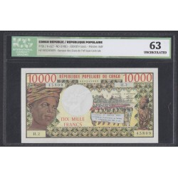 Конго Республика 10000 франков 1981 год (CONGO REPUBLIC 10000 francs 1981) P 5b: UNC 63