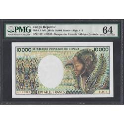 Конго Республика 10000 франков 1983 год (CONGO REPUBLIC 10000 francs 1983) P 7: UNC 64