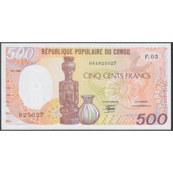 Конго Республика 500 франков 1989 год (CONGO REPUBLIC 500 francs 1989) P 8a: UNC