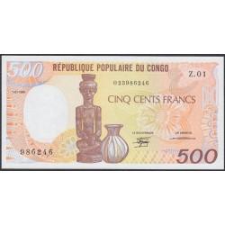 Конго Республика 500 франков 1985 год (CONGO REPUBLIC 500 francs 1985) P 8a: UNC