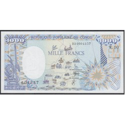 Конго Республика 1000 франков 1990 год (CONGO REPUBLIC 1000 francs 1990) P 10b: UNC