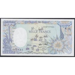 Конго Республика 1000 франков 1992 год (CONGO REPUBLIC 1000 francs 1992) P 11: UNC