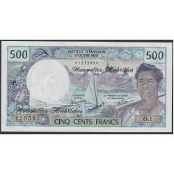 Новые Гибриды 500 франков 1979 год (New Hebrides 500 Francs 1979) P 19b: UNC