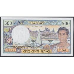 Французские Тихоокеанские Территории 500 франков 1992 года (French Pacific Territories 500 Francs 1992) P 1c: UNC
