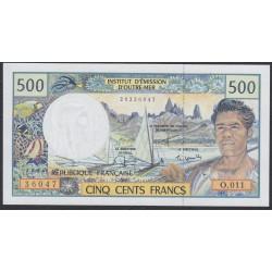 Французские Тихоокеанские Территории 500 франков 1992 года (French Pacific Territories 500 Francs 1992) P 1e: UNC