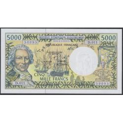 Французские Тихоокеанские Территории 5000 франков 1996 года (French Pacific Territories 5000 Francs 1996) P 3g: UNC