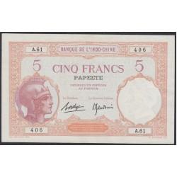 Таити 5 франков 1927 года (Tahiti 5 Francs 1927) P 11b: aUNC