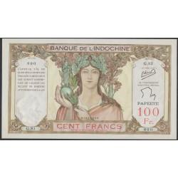 Таити 100 франков 1939-65 года (Tahiti 100 Francs 1939-65) P 14c: UNC