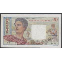 Таити 20 франков 1951-63 года (Tahiti 20 Francs 1951-63) P 21c: XF+