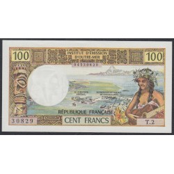 Таити 100 франков 1971 года (Tahiti 100 Francs 1971) P 24a: UNC