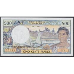 Таити 500 франков 1985 года (Tahiti 500 Francs 1985) P 25d: UNC