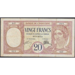 Новая Каледония 20 франков 1929 года (New Caledonia 20 Francs 1929) P 37a: VF/XF