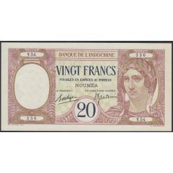 Новая Каледония 20 франков 1929 года (New Caledonia 20 Francs 1929) P 37b: UNC--