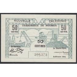 Новая Каледония 50 центимов 1943 года (New Caledonia 50 Centimes 1943) P 54: aUNC