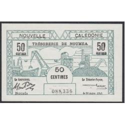 Новая Каледония 50 центимов 1943 года (New Caledonia 50 Centimes 1943) P 54: UNC