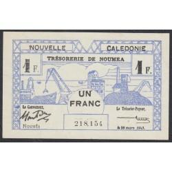 Новая Каледония 1 франк 1943 года (New Caledonia 1 Franc 1943) P 55b: aUNC/UNC