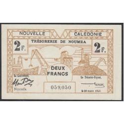 Новая Каледония 2 франка 1943 года (New Caledonia 2 Francs 1943) P 56b: XF/aUNC