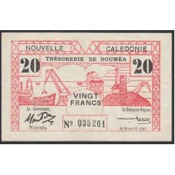 Новая Каледония 20 франков 1943 года (New Caledonia 20 Francs 1943) P 57: XF