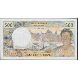 Новая Каледония 500 франков 1969-92 года (New Caledonia 500 Francs 1969-92) P 60e: UNC