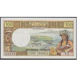 Новая Каледония 100 франков 1971 года (New Caledonia 100 Francs 1971) P 63a: UNC