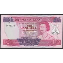 Соломоновы Острова 10 долларов 1977 года (Solomon Islands 10 dollars 1977) P 7a: UNC