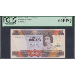 Соломоновы Острова 20 долларов 1984 года (Solomon Islands 20 dollars 1984) P 12: UNC