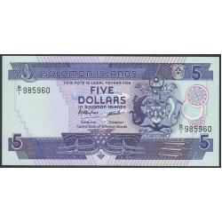 Соломоновы Острова 5 долларов 1986 года (Solomon Islands 5 dollars 1986) P 14: UNC