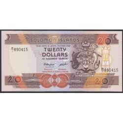 Соломоновы Острова 20 долларов 1986 года (Solomon Islands 20 dollars 1986) P 16: UNC