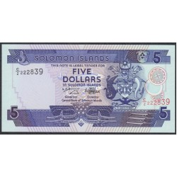 Соломоновы Острова 5 долларов 1997 года (Solomon Islands 5 dollars 1997) P 19: UNC