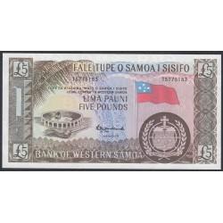 Западное Самоа 5 фунтов 1963 год, печатались позже (Western Samoa 5 Pounds 1963, reprint) P 15CS: UNC