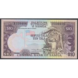 Самоа 10 тала 2002 год  (Samoa 10 Tala 2002) P 34a: UNC