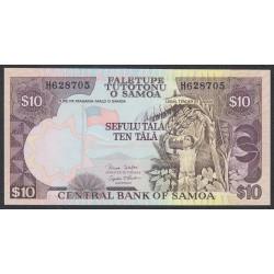 Самоа 10 тала 2002 год, литера Н  (Samoa 10 Tala 2002) P 34b: UNC