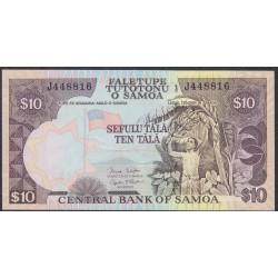 Самоа 10 тала 2002 год, литера J  (Samoa 10 Tala 2002) P 34b: UNC