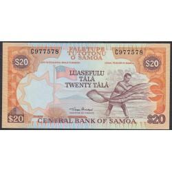 Самоа 20 тала 2002 год  (Samoa 20 Tala 2002) P 35a: UNC