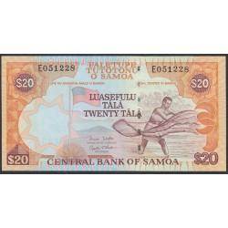 Самоа 20 тала 2002 год  (Samoa 20 Tala 2002) P 35b: UNC