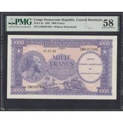Конго Демократическая Республика1000 франков 1962 год (CONGO DEMOCRATIC REPUBLIC 1000 francs 1961g.) P 2a: aUnc 58