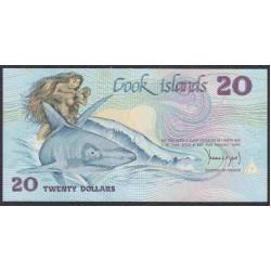 Острова Кука 20 долларов ND (1987 г.) Редкие!!!(COOK ISLANDS 20 Dollars ND (1987)) P5a:Unc