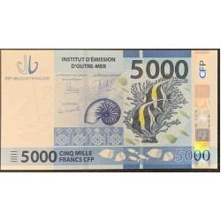 Французcкие Тихоокеанские Территории 5000 франков б\д (2014 года) (French Pacific Territories 5000 Francs ND (2014 year)) P 7 : UNC