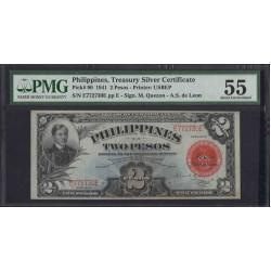 Филиппины 2 песо б\д (1941 год) (Philippines 2 pesos ND (1941 year)) P 90 : aUnc 55 PMG