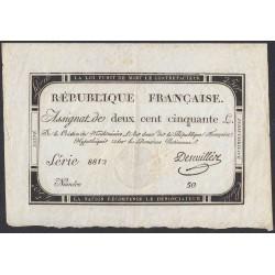 Франция ассигнация на 250 ливров 1793 года, вариант 3 (France 250 Livres 1793) PA75: XF