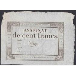 Франция ассигнация на 100 Франков 1795 года (France 100 Francs 1795) PA78: aUNC