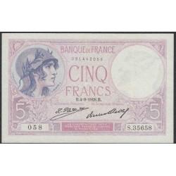 Франция  5 Франков 1928 года (France 5 Francs 1928) P 72d: XF