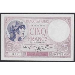 Франция  5 Франков 1940 года (France 5 Francs 1940) P 83: UNC--