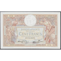 Франция  100 Франков 1938 года (France 100 Francs 1938) P 86b: XF/aUNC