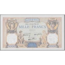 Франция  1000 Франков 1940 года (France 1000 Francs 1940) P 90с: XF/aUNC