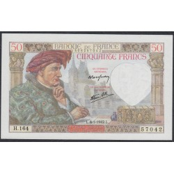 Франция  50 Франков 1942 года (France 50 Francs 1942) P 93: UNC
